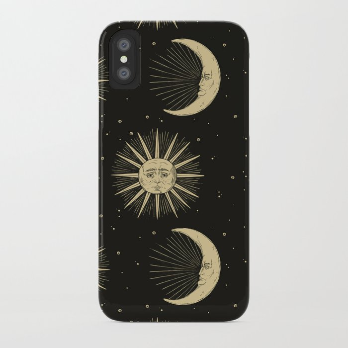 sale retailer 1a4da ae769 The Sun, The Moon, The Crescent of Moon iPhone Case by juliacoalrye