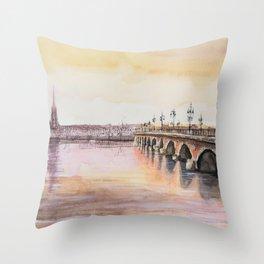 Bordeaux sunset Throw Pillow