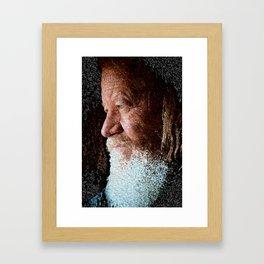 Old man blue eyes Framed Art Print