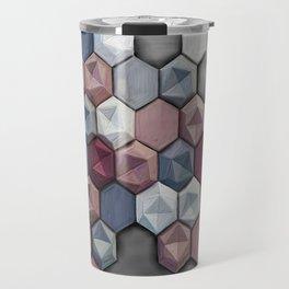 hex abstract Travel Mug