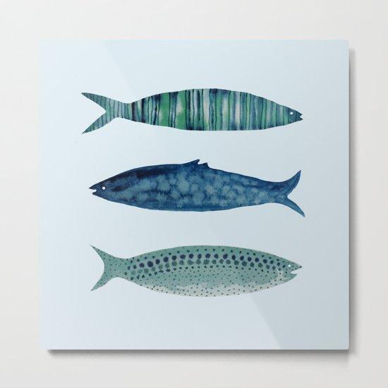 fish in Metal Print
