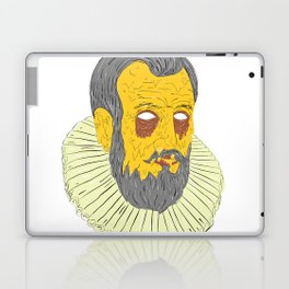 Nobleman Wearing Ruff Collar Grime Art Laptop & iPad Skin