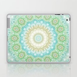 Earth and Sky Mandala in Pastel Blue and Green Laptop & iPad Skin