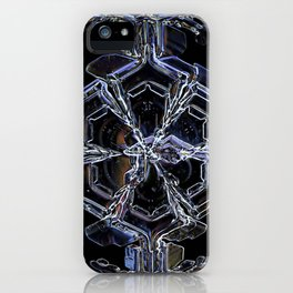 Water as a Crystal, pattern snowflake art on leggings and more! iPhone Case
