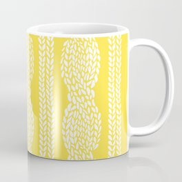 Cable Row Yellow Coffee Mug