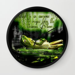 Amphibian Models: Frog Laze 01-07 Wall Clock