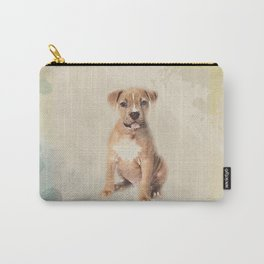 American staffordshire terrier puppy Sketch Paint Carry-All Pouch