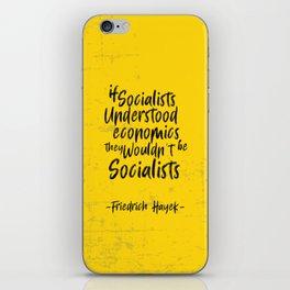 Friedrich Hayek Illustration iPhone Skin