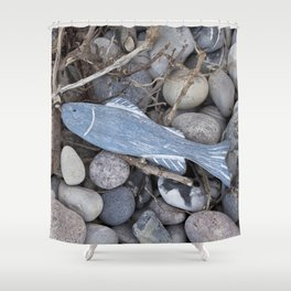Little Fish At The Beach Shower Curtain