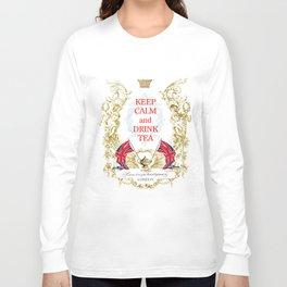 Keep calm and drink tea Long Sleeve T-shirt