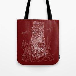 Shoetree in Deep Red Tote Bag