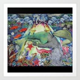 Syren the mermaid her  Art Print