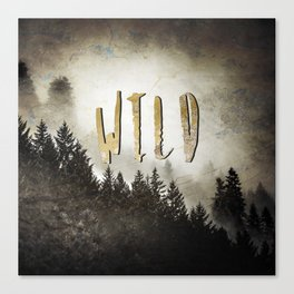 Wild Gold Forest Canvas Print