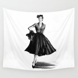 Fashion 1950 Wall Tapestry