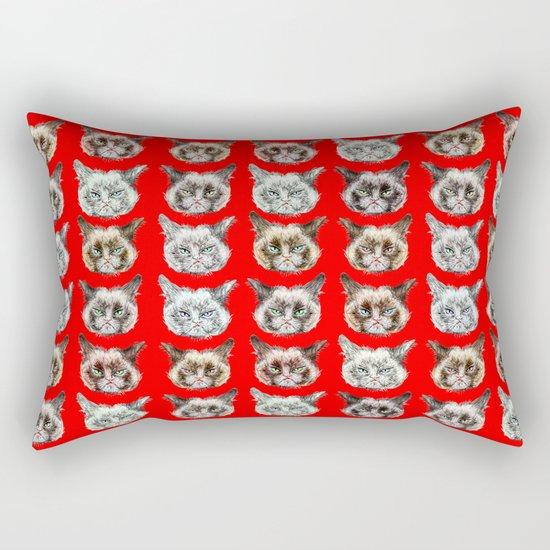 Cats Cats Cats on Red Rectangular Pillow