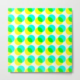 dots pop pattern 3 Metal Print