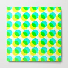 dots pop pattern 3 Metal Print