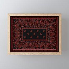 Classic Black and Red Bandana Framed Mini Art Print