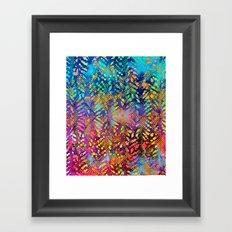 Sunset Batik Framed Art Print