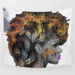 Afro-Girl Wall Tapestry