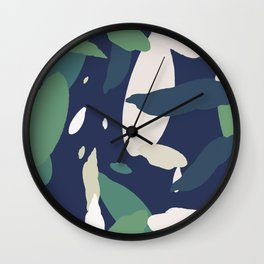 Pattern Abstrait Formes Colors Tropical Wall Clock