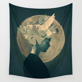Moonlight Lady Wall Tapestry