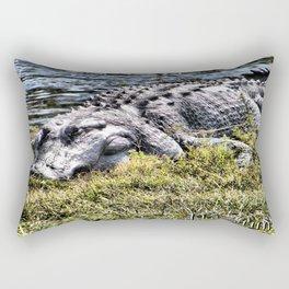 Resting Gator Rectangular Pillow