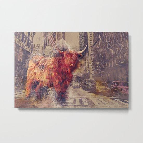 Sightseeing Cattle Metal Print
