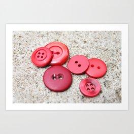 Red Buttons Art Print