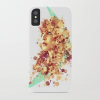 jennifer lawrence iPhone & iPod Cases featuring Jennifer Lawrence by Rene Alberto