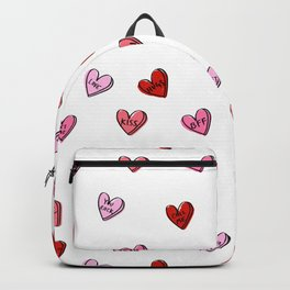 Hearts valentines day candy heart love sayings i love you pattern Backpack