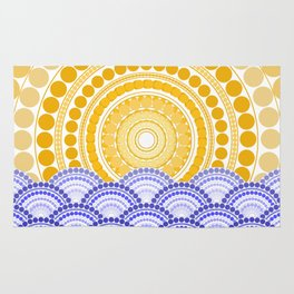 LIGHT OF DAWN (abstract seascape tropical) Rug