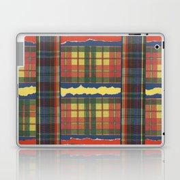 Torn Electric Tartan Plaid by Nettwork2Design Nettie Heron-Middleton Laptop & iPad Skin