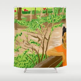 Pam at the Lao River Shower Curtain