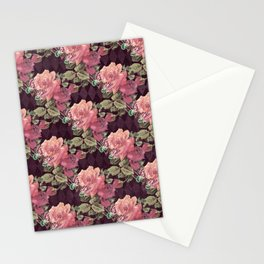 Antique Alice BA11 - Larger Pattern - Blush, Butterflies, Roses Stationery Cards