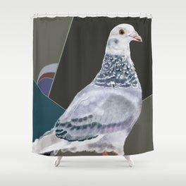 Femke's Pigeon Shower Curtain