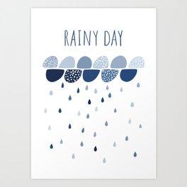Rainy Day art print Art Print