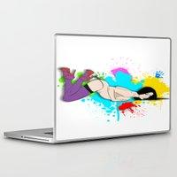 yoga Laptop & iPad Skins featuring Yoga by Don Kuing
