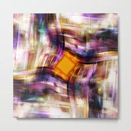 Rhombus Orange Metal Print
