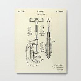 Pipe Cutting Tool-1945 Metal Print