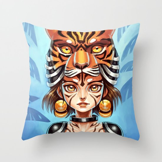 Tiger Tribe Throw Pillow