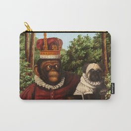 Monkey Queen with Pug Baby Carry-All Pouch