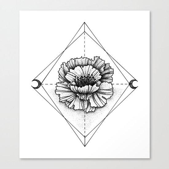 INK FLOWER Canvas Print