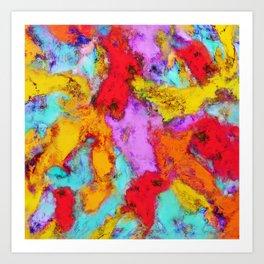 Floating temperatures Art Print