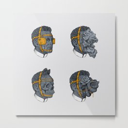 Heads Metal Print