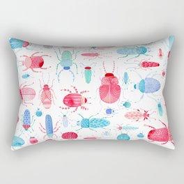 Watercolor Beetles Rectangular Pillow