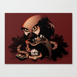 The Dead Cowboy, The Rattlesnake and The Owl Canvas Print