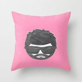moody git Throw Pillow