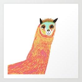 Alpaca, alpaca print, alpaca art, Art Print