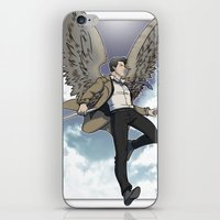 castiel iPhone & iPod Skins featuring Castiel by DeanDraws